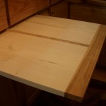 Hickory trimmed maple cutting board