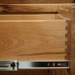 Solid maple drawers with heavy duty slides
