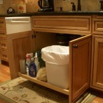 Under-sink slideout shelf