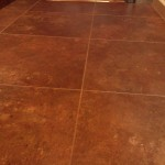 Grouted luxury vinyl tile