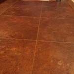 Grouted luxury vinyl tile