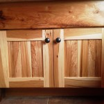 Natural hickory with book-matched panels