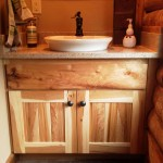 Hickory with a semi-vessel sink